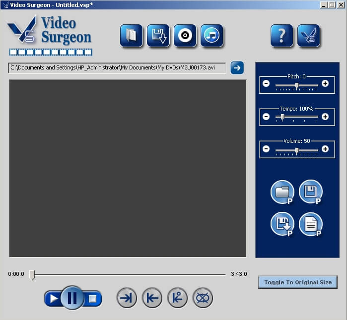 Click to view Video Surgeon 1.1.1.13 screenshot